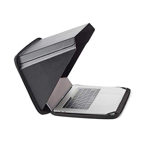 New Technology Made from Organic Materials Hemp and Vegan Leather  Laptop Sun Shade Privacy Hemp SleeveBag for Most 13 Black  Complete Privacy and Sun Protection  Patent No D790551