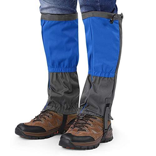 Alomejor 1 Paar Schneestiefel Leggings wasserdichte Gamaschen Winter Outdoor Sports Schuhe Abdeckung für Klettern Wandern(Blau)
