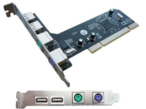 © KALEA-INFORMATIQUE-Tarjeta controladora PCI USB 2,0 PS/2 puertos PS2 para ratón y...