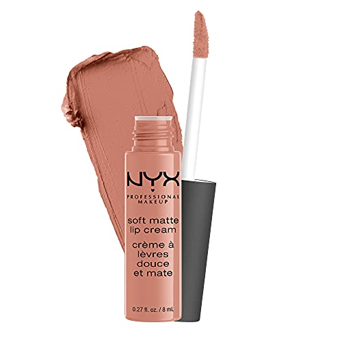 NYX PROFESSIONAL MAKEUP Soft Matte Lip Cream, Lightweight Liquid Lipstick - Stockholm (Mid-Tone Beige Pink)