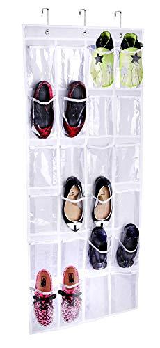 Generieke Pocket-White 24 houder voor schoenen, kledingkast, opbergdoos, wit