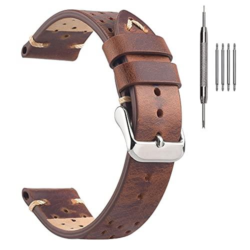 Cinghie per orologio da corsa Rally 18mm, cinturini per orologi vintage in...