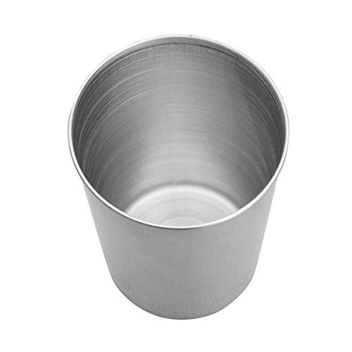 CHICTRY 2/4Stück Edelstahl Becher Tasse Metall-Becher stapelbare Trinkbecher für Kinder Softdrinks, Heißgetränke & Cocktails Tassen 50/180/320/500ml Silber 50ml