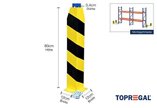 Anfahrschutz Palettenregal, Rammschutz in L-Form 80cm hoch inkl. Bolzenanker