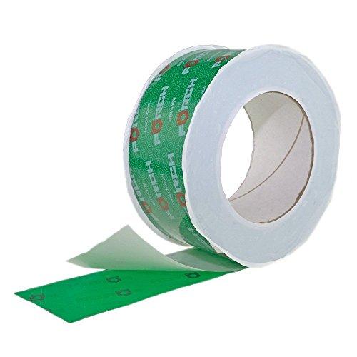 12 Rollen Klebeband 50mm x 25 lfm für Dampfbremse Dampfsperre Dampfsperrfolie Dampfbremsfolie OSB - Systemklebeband grün