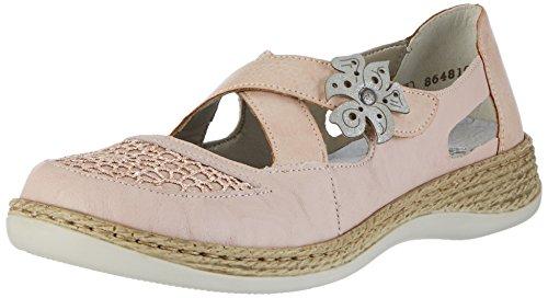 Rieker Damen 464H0 Geschlossene Ballerinas, Mehrfarbig (rose/altrosa/rose/silber/31), 37 EU