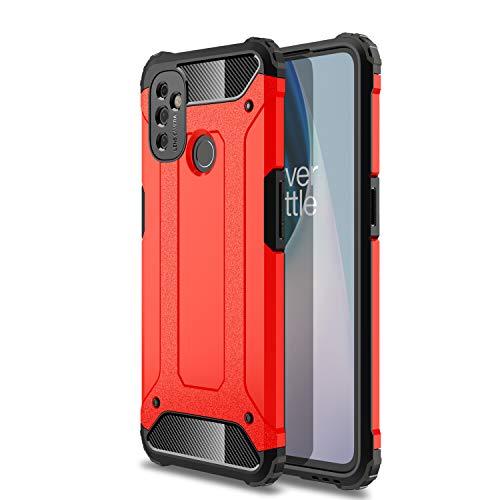 DYIGO Cover per OnePlus Nord N100,Copertura Protettiva Solida e Resistente, airbag a Quattro Angoli,Custodia del Telefono Anti-Goccia(Rosso)