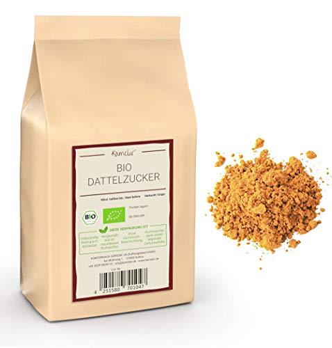 1kg BIO Dattelzucker - naturbelassener brauner Zucker aus gemahlenen BIO Datteln - Dattelsüße als natürliche Alternative zu weißem Zucker