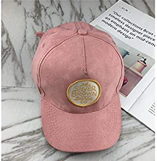 Baby Decoration Hat Round Mark Kids Leather Cap Baby Outdoor Sun Visor Baseball Cap for 3-7 YearsOld Cute Cap (Color : Pink, Size : 49-53cm)