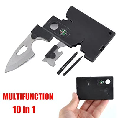 Multitool Survival Kit~Credit Card Size Knife Tool~Survival Pocket Knife~10 in 1 Multitool Emergency Kit~Brand New from Cosi Fashion
