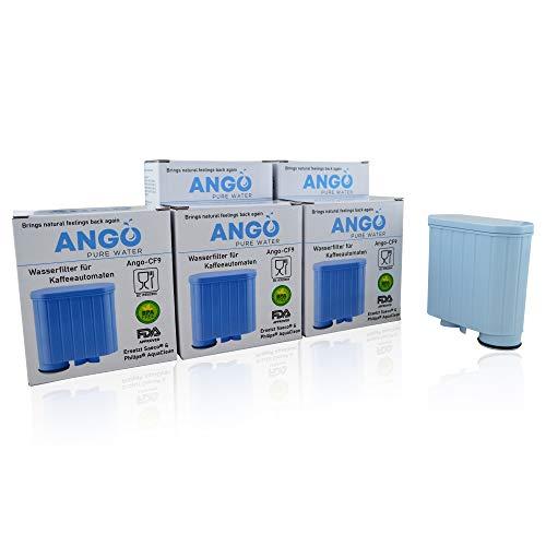 5x Wasserfilterpatronen ersetzen Saeco & Philips AquaClean CA6707, CA6903, CA6903/00, CA6903/01, CA6903/99 Filter, kompatibel mit Saeco Kaffeemaschinen - PureWater Ango-CF9 Kartusche