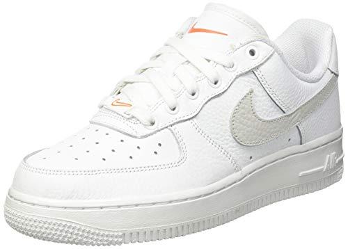 Nike Damen Air Force 1 07 Basketballschuh, Summit White Solar Flare Starfish, 41 EU