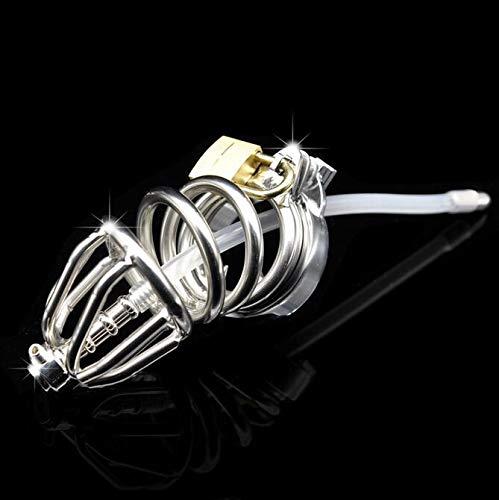Cerradura de metal de acero inoxidable con catéter de silicona anti-apagado anillo especial para hombres 43mm