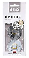 BIBS fopspeen Kleur 2 pack maat 1 (0-6 maanden), natuurlijk rubber, Deense fopspeen met kersenvorm (Iron/Baby Blue, maat 1 (0-6 maanden)**