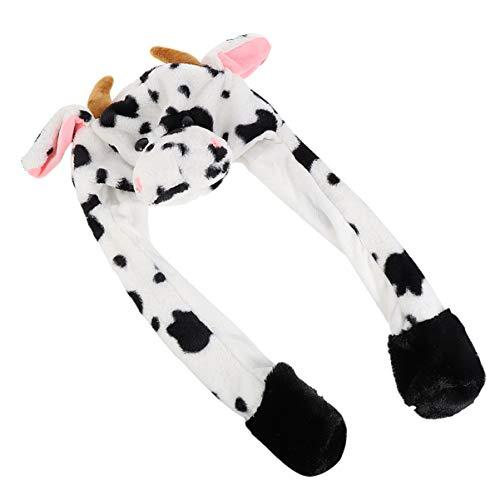PRETYZOOM Sombrero de peluche de vaca suave y clido, para invierno, para nios, nias, cosplay, Pascua, carnaval, fiestas, vacaciones, estilo 2