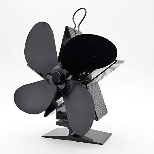 WYBFBYQ fornuisventilator, met warmteaangedreven ventilator voor houtkachels of open haarden, stil en onderhoud