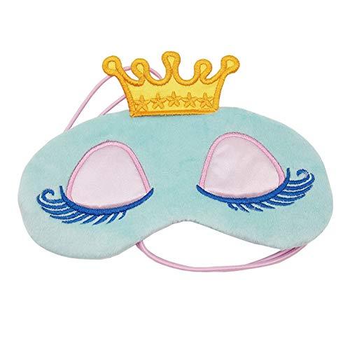 Lovely Pink/Blue Crown Sleeping Mask Crown Eyeshade Eye Cover Travel Cartoon Pestañas largas Regalo con los ojos vendados Para mujeres Niñas