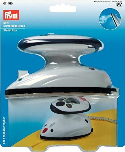 Prym Mini-Dampfbügeleisen -- Nur 420g -- Netzspannung umschaltbar | Kleines Reise-Bügeleisen, Trockenbügeleisen mit und ohne Dampf | Handlicher Dampf-Bügelautomat zum Nähen | Leichter Dampfglätter zum Bügeln
