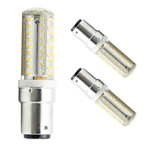 B15d LED-Birne B15d Doppelbajonettsockel 5W 12V 60W Äquivalent Nicht-Dimmbare Warm Weiß 3000K Nähmaschinenlampe (2er Pack)