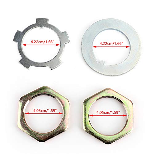 Artudatech, Front Axle Hub Spindle Lock Nut Washer Kit 43521-60011 for Toyota for Je-ep for Hiluxs