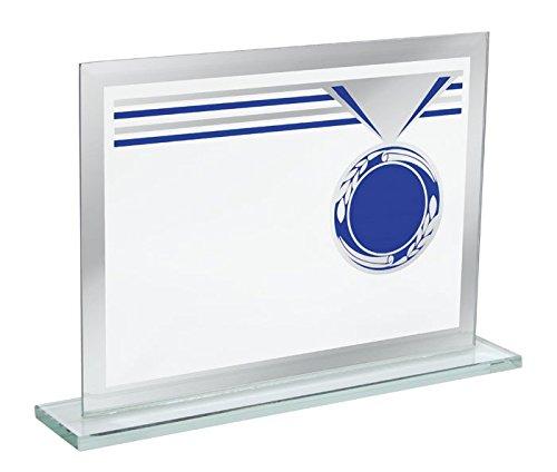 Ten rechthoekige glazen trofee cod.EL35217 cm 16x4x11,5h door Varotto & Co.