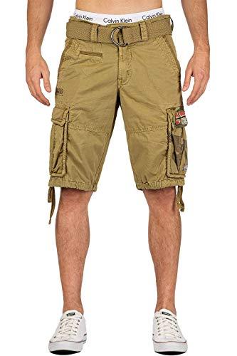 Geographical Norway Herren Cargo Shorts mit Camouflage Tasche Mastic S