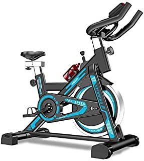 Spinning Bike, Home Pedal Indoor Sports Bike Weight Loss Gym Equipment, Aerobic Exercise, Artificial Design, Adjustable Ha...