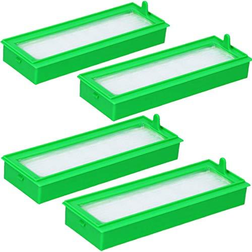 4 Filter geeignet für Vorwerk Kobold VR200 und VR300 Saugroboter, Feinfilter als Ersatz für Staubbehälter des Staubsaugers