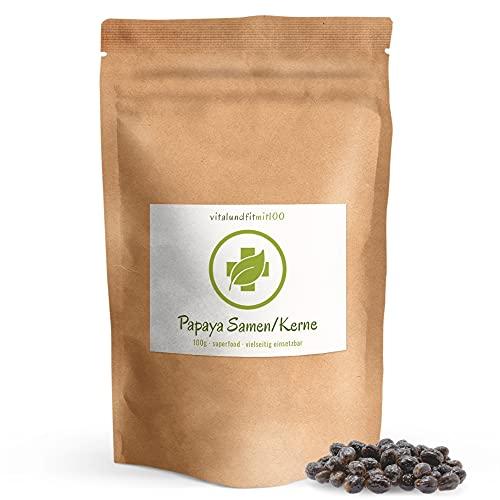 Papaya Kerne/Samen - 100 g - natürlich schonend getrocknet - Papaya-Pfeffer ohne Zusatzstoffe - gluten- und laktosefreie Papaya-Samen - hoher Papain Gehalt - aromatisch - pfeffrig scharfes Aroma