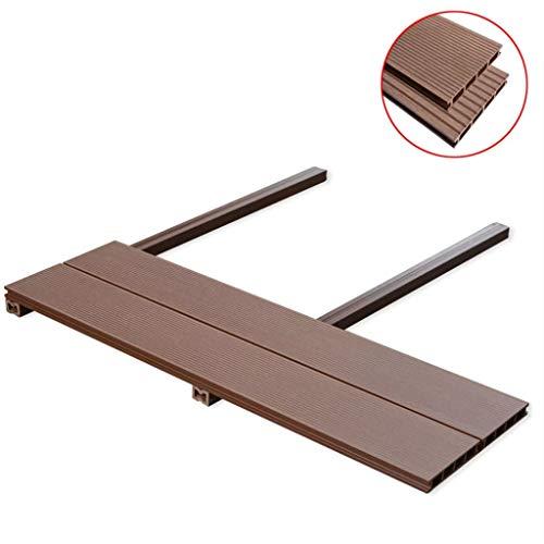 Gecheer WPC Terrassendielen 20m² Komplettset Komplettbausatz Diele 2200 × 150 × 25 mm (L × B × D)