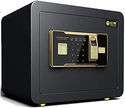Cajas fuertes y hucha, Cajas de seguridad para el hogar, Caja fuerte electrónica digital para oficina en casa pequeña de acero de seguridad con dos llaves (35 25 25 cm), Caja para esconder dinero (Col