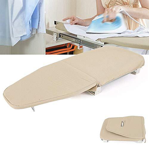 LOHOX Tabla de Planchar Extraíble Armario cajón fácil de Espacio Ahorro Resistente a Las Quemaduras Plegable Retráctil para un Planchado más Cómodo Espacios Reducidos 81x30cm