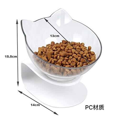 Fansi 1 Pcs Pet Bowl Katzenohr Typ Rack Halskrause PC Kunststoff Food Bowl für Hunde und Katzen Wasser- und Futterversorgung