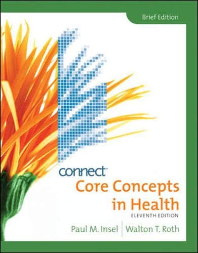 Core Concepts in Health, Brief with Connect Plus Personal...