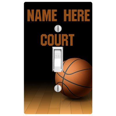 Amazon Com Pp4u Personalized Basketball Printed Light Switch Cover Now With Double Switch Option Toys Games