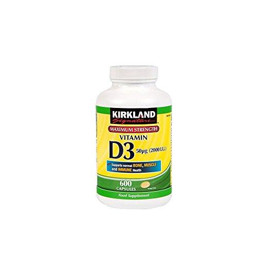 Fuerza Kirkland Max Vitamina D3 - 600 Cápsulas