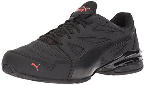 PUMA Men's Tazon Modern SL FM Sneaker,puma black-high risk red,13 M US