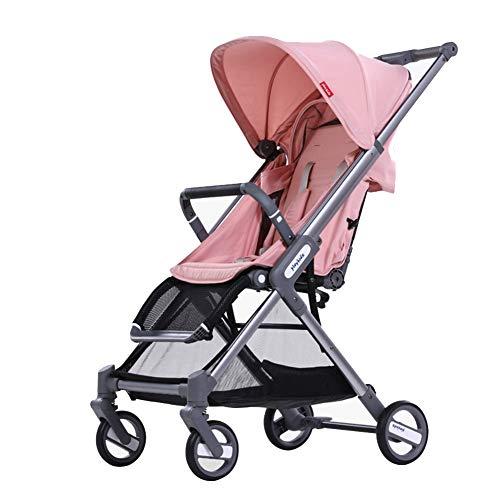 WYX-Stroller Kinderwagen, Zusammenklappbarer Kinderwagen Mit 5-Punkt-Sicherheitssystem Und Multi-Positon-Liegesitz,d