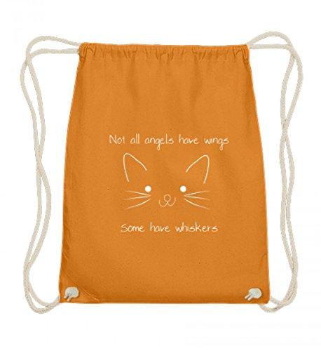 No todos los ángeles tienen alas – algunos tienen bigote | gato gato gato – Algodón Gymsac, color Naranja, talla 37cm-46cm