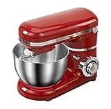 Robot da cucina elettrico, Impastatrice per impasto Ciotola in acciaio inox da 4 litri Impastatrice elettrica da cucina a 8 velocità con doppi ganci per impasto, frusta a filo, frusta piatta, scudo