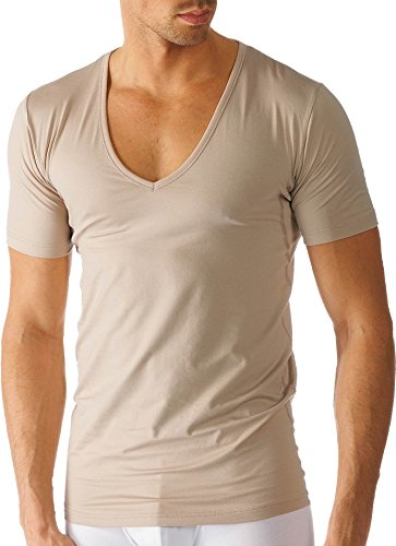 Mey - Herren V-Neck Business Shirt - Slim Fit ''Dry Cotton Functional'' beige/Light Skin (Das ''Drunterhemd'') 4