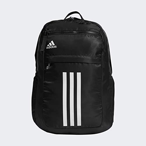 adidas Unisex League 3 Stripe Backpack, Black, ONE SIZE