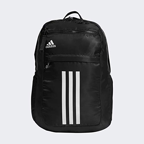 adidas Unisex-Erwachsene League 3 Stripe Backpack Rucksack, schwarz, Einheitsgröße