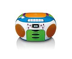 Lenco SCD-971 - Kinderradio - CassetteRadio met CD - CD Radio - Cassettespeler - Stereo Speaker - Hoofdtelefoonaansluiting - Track Memory - Kleurrijk*