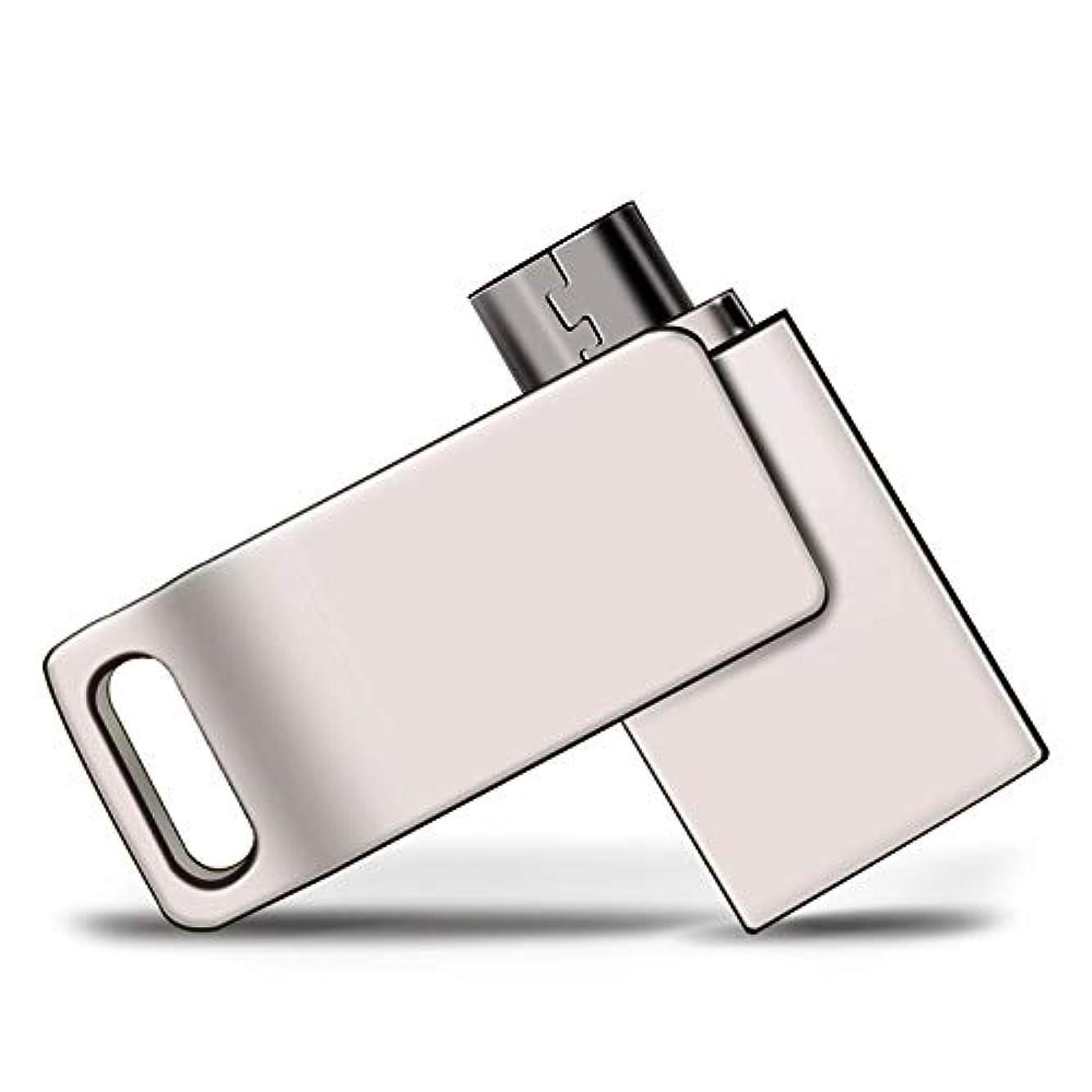 聴衆学校チューブコンピュータ携帯電話USBフラッシュドライブ、32 GデュアルユースUディスク、64 Gメタルメモリースティック、2つの回転Usb 2.0高速フラッシュドライブ (Capacity : 8GB)