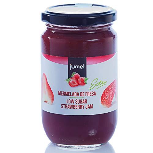 Mermelada fresa extra JUMEL. 50 g de fruta por cada 100 g de producto. Mermelada gourmet, ideal para desayunos, meriendas y tostadas. Mermelada Jumel. Pack de 4 unidades (1,39 euros / unidad)