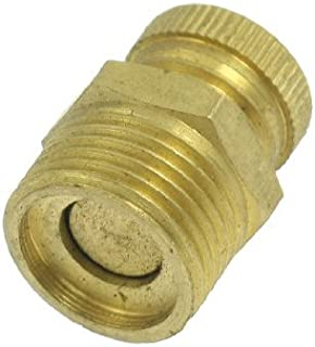 eDealMax Air Compressor PT 3/8 Male Thread Water Drain Valve Brass Tone