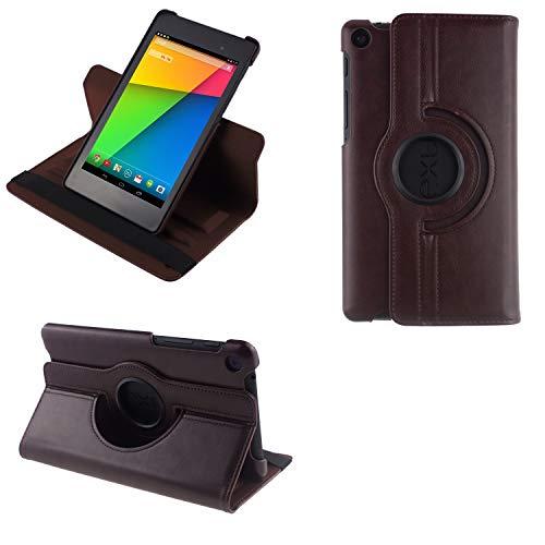 COOVY® 2.0 Cover für Google ASUS Google Nexus 7 (2. Generation Model 2013) Rotation 360° Smart Hülle Tasche Etui Hülle Schutz Ständer Auto Sleep/Wake up | braun