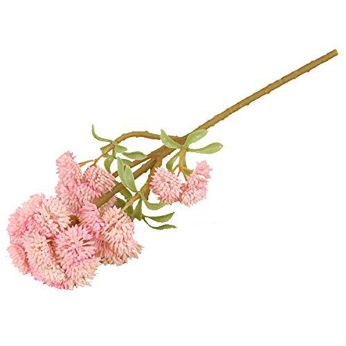 Künstliche Blumenkohl, exquisit und realistisch, angenehmes Gefühl, geeignet für Vorgarten, Garten, Balkon, Fensterbank, Innen- und Außenbereich, 5 Stück