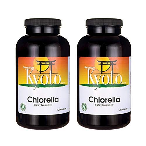 Swanson Chlorella 200 mg 1500 Tabs 2 Pack
